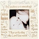1 X Godmother Heartfelt Words 3x3 Square Picture Frame