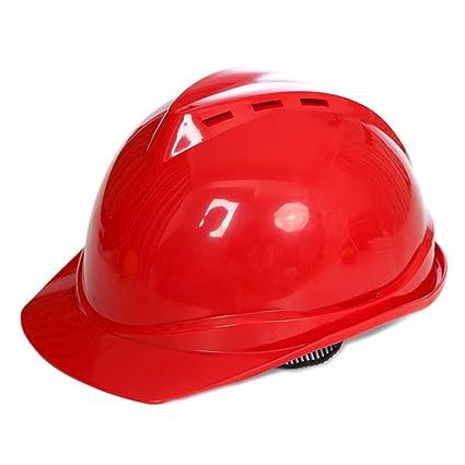 Casco de seguridad para el trabajo al aire libre, sombrero de construcción rígido para adultos