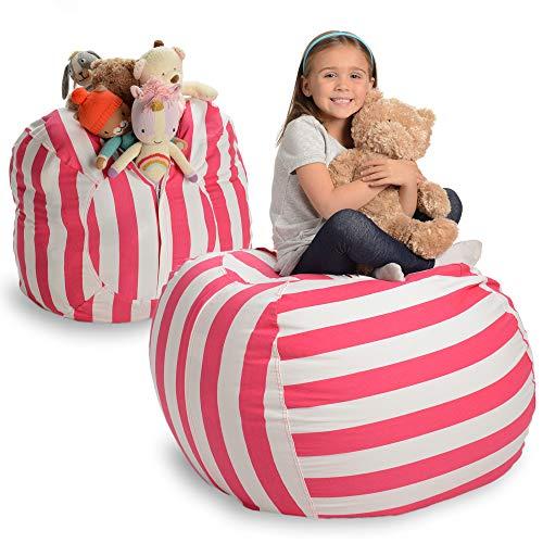 Creative QT Stuffed Animal Storage Bean Bag Chair – Kid Bean Bag Chair – Beanbag Cover – Stuffed Animal Holder – Beanbag…