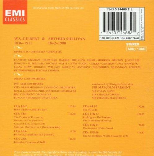 Gilbert & Sullivan - Operettas / Pro Arte Orchestra · Sir Malcolm Sargent by EMI Classics