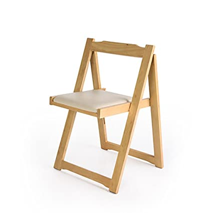 Amazon.com: JHZDY Wooden Folding Chairs Modern Simple Back ...