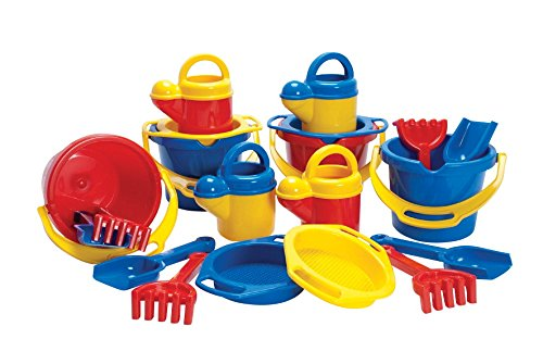 Dantoy 8989 Sand and Water Multi-Tool Set, Assorted Colors (Pack of 20)