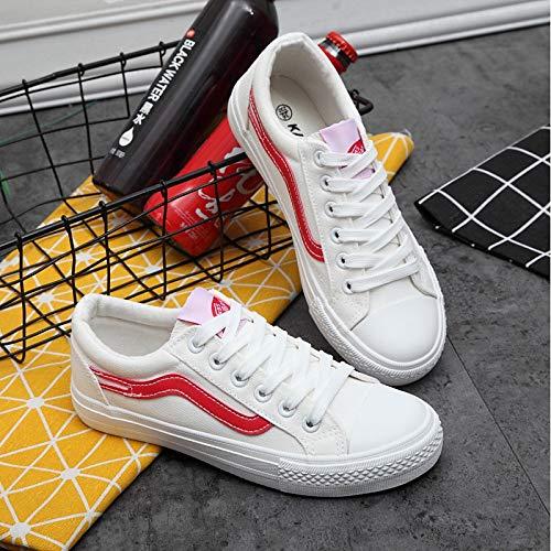 Blanco Comfort Green Verde Negro Heel de Zapatos Sneakers Spring Mujer Canvas ZHZNVX Flat nXzqOP7xw