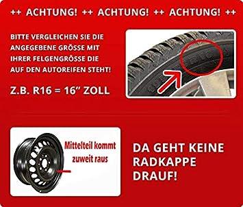 16 Zoll Rkk13 Matt Black Line Schwarz Grün Radkappen Radzierblenden 4 Stück Auto