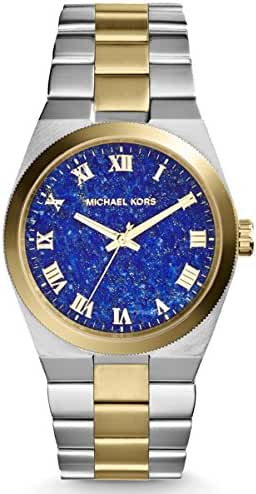 Michael Kors Women's Channing Two-Tone Stainless Steel Blue Lapis Dial