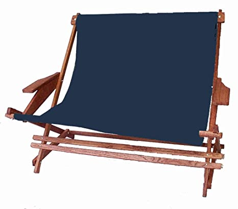 Amazon.com: Plegable de madera Rocking Loveseat, Azul marino ...