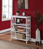 "Brand New 30""L x 12-1/2""W x 36""H White Finish 3-Tier Book Shelf"