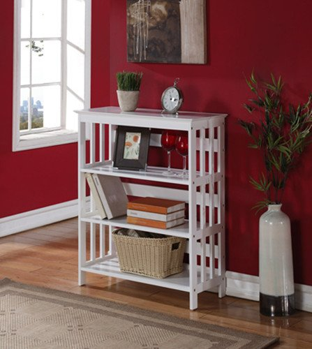 "Brand New 30""L x 12-1/2""W x 36""H White Finish 3-Tier Book Shelf by Click 2 Go"