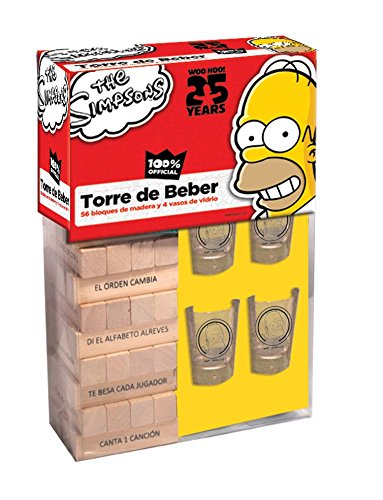 Novelty Juego Torre Del Beber The Simpsons Amazon Com Mx Juegos Y