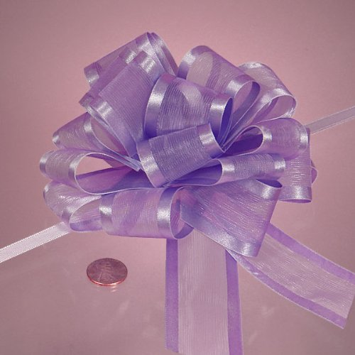 Lavender Arabesque Ribbon Bow, 4'' by Paper Mart