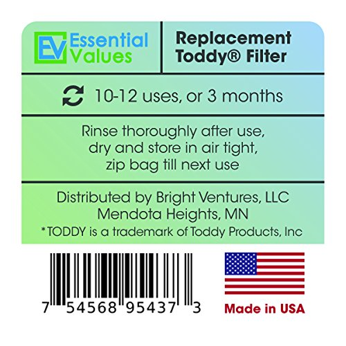 Toddy Filters, (2 PACK) Replacement Coffee Filters For Toddy Cold Brew System/Toddy Maker By Essential Values by Essential Values (Image #3)