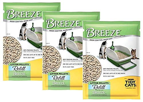 Tidy Cats Pack of 3 Breeze Cat Litter Pellets - 3.5 lb