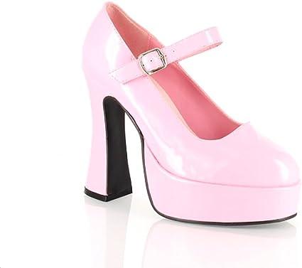 Chunky Heel Mary Jane. Pink