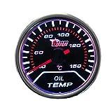 "Etopars™ Car Motor Universal Smoke Tint Len 2"" 52mm Oil Temp Temperature Indicator Gauge Meter"