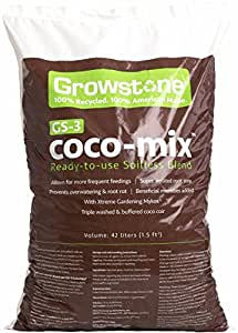 Growstone GS-3 Coco Mix for Soil, 1.5 Cubic Feet