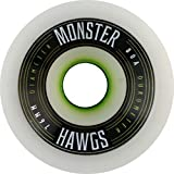 Hawgs Monster White Longboard Wheels - 76mm 76a (Set of 4)