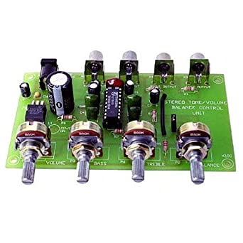 Amazon com: Stereo Preamp and Tone Control Kit: Industrial & Scientific