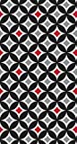 Creative Converting Touch of Color 16 Count Guest Napkins, Cathedral Window, Classic Red/Black Velvet