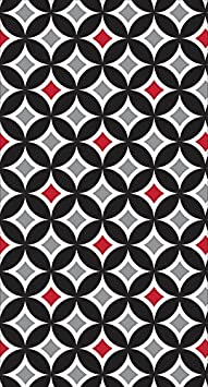 Cathedral Window Creative Converting Touch of Color 16 Count Guest Napkins Classic Red//Black Velvet 931677