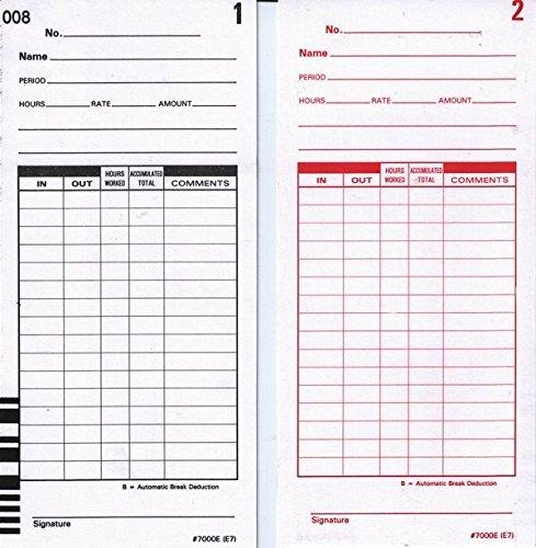 Lathem Bar Coded Time Cards, for Use with Lathem 7000E & 7500E Time Clocks, 7