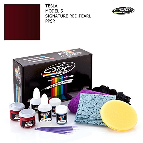 TESLA MODEL S / SIGNATURE RED PEARL - PPSR / COLOR N DRIVE TOUCH UP PAINT SYSTEM FOR PAINT CHIPS AND SCRATCHES / PLUS PACK