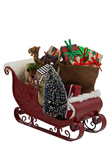 Byers' Choice Ltd. Sleigh Filled with Toys #3809 from The North Pole Caroler Figurine Collection (Decoration Santa Sleigh)