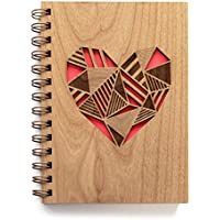 Patchwork Heart Laser Cut Wood Journal (Notebook/Birthday Gift/Gratitude Journal/Handmade/Christmas Gift)