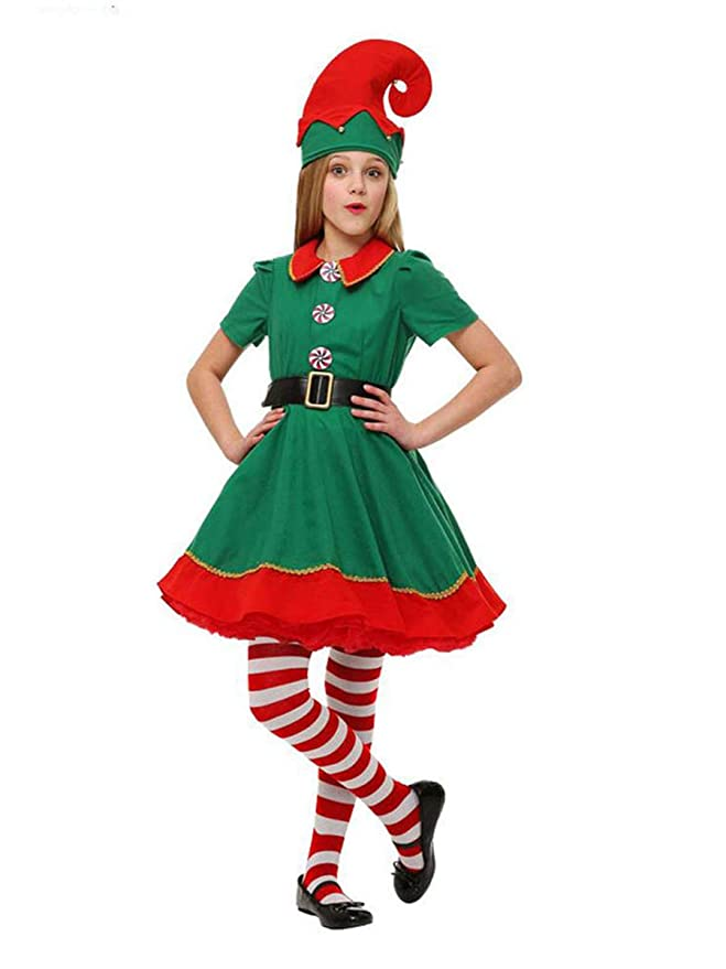 Amazon.com: Evaliana - Disfraz de Papá Noel de Navidad para ...