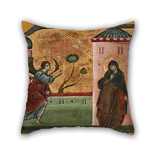 MeiGi 20 X 20 Inches / 50 By 50 Cm Oil Painting Guido Da Siena - Annunciation Pillowcase 2 Sides Ornament And Gift To Teens Girls Chair Adults Sofa Divan Christmas