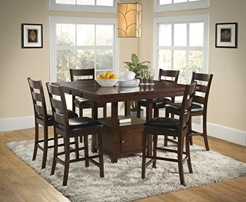 1perfectchoice Urban Styles 5PC dining set Cappuccino 1 table and 4 stools with butterfly leaf