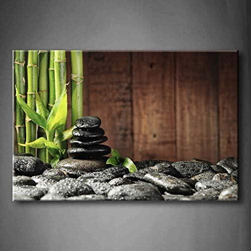 NIMCG 1 Pic Wall Art Pictures Bamboo Grove Zen Stones Impresión de Lienzo de Madera Carteles botánicos con decoración (Sin Marco) R1 40x50CM: Amazon.es: Hogar
