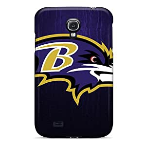 ERCox Perfect Tpu Case For Galaxy S4/ Anti-scratch Protector Case (baltimore Ravens)