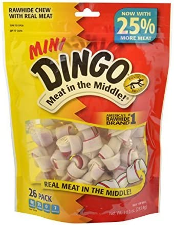 Dingo Bag of Market Cuts 100 Chicken Jerky Natural Dog Treats Made in USA Only