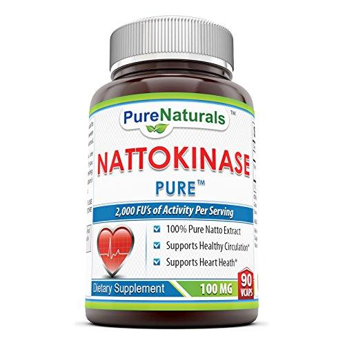 Pure Naturals nattokinase Veg Capsules, 100 mg, 90 Count - Nattokinase 90 Capsules