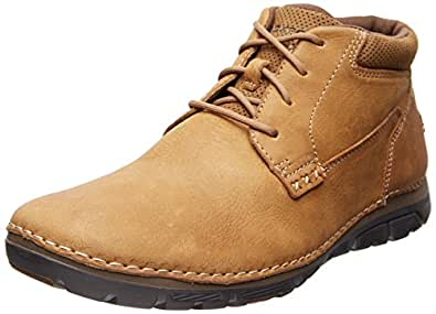 Rockport Men's RocSports Lite ZoneCush Plain Toe Boot Tan 7 W (EE)-7 W