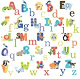 Animal Alphabet Baby Nursery Peel andStick Wall Art Sticker Decals