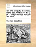 Ton and Antiquity, Thomas Streatfield, 1170630847