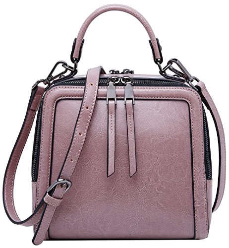 Leather Handbag Top Pink Mini Boyatu Handle Shoulder Bag For Women Evening Purse adFUwqx1