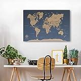 Mapas del Mundo en Corcho. El mejor regalo para viajeros