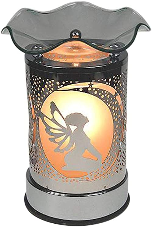 Forest Silhouette Design 16cm Electric Wax Tart Melt Burner Lamp with Touch Control Scented Fragrance Aroma Warmer