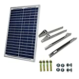 Smarkey 20W 12V Mono Solar Panel With Stainless Mounting Brankets for 12v Battery Charging