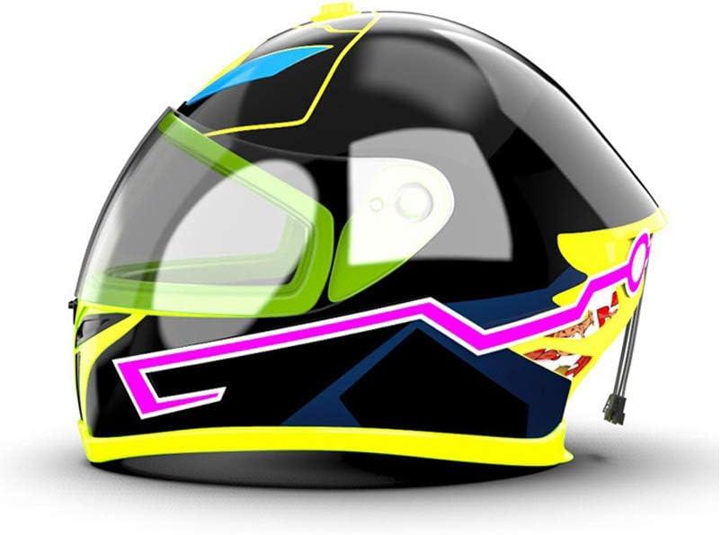 Qiuxiaoaa Motorradhelm Led Licht Nachtreit Signalleiste Blinkstreifen Led Licht Helm Lichtleiste Blau Küche Haushalt
