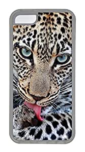 iPhone 5C Case, Customized Protective Soft TPU Clear Case for iphone 5C - I Am Watching You Cover