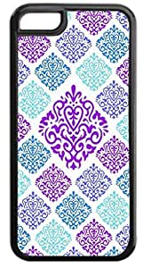05-Large and Small Damasks-Pattern- Case for the APPLE iphone 5s ONLY!!!-NOT COMPATIBLE WITH THE iphone 5s!!!-Hard Black Plastic Case with Black Rubber Inner Lining