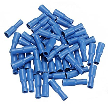 high quality 50 pcs blue male female bullet connector crimp terminals wiring RRC