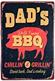 ERLOOD Dad's BBQ Stand Back Dad's Cooking Vintage Tin Sign Wall Decor 20 X 30 Cm