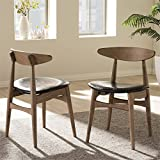 Baxton Studio Edna Dining Chair in Black (Set of 2)