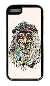 iPhone 6 Case, Personalized Custom Design iPhone 6 Black Lion Color Case Cover