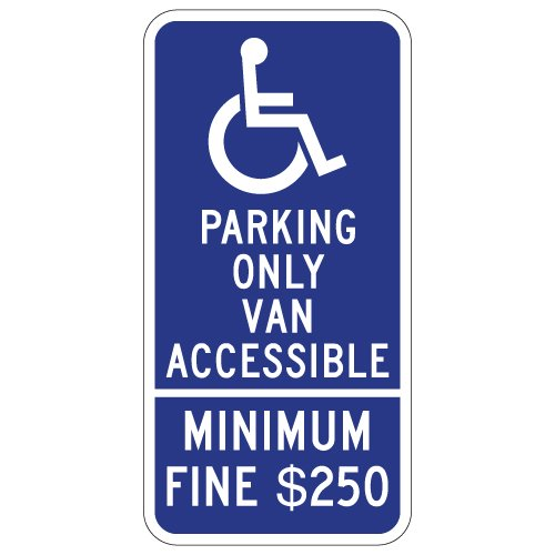 California Accuform Signs FRA189RA Engineer-Grade Reflective Aluminum Handicapped Parking Sign Legend UNAUTHORIZED VEHICLES PARKED IN DESIGNATED ACCESSIBLE SPACES NOT DISPLAYING DISTINGUISHING PLACARDS OR LICENSE PLATES ISSUED FOR PERSONS WITH DISABILI