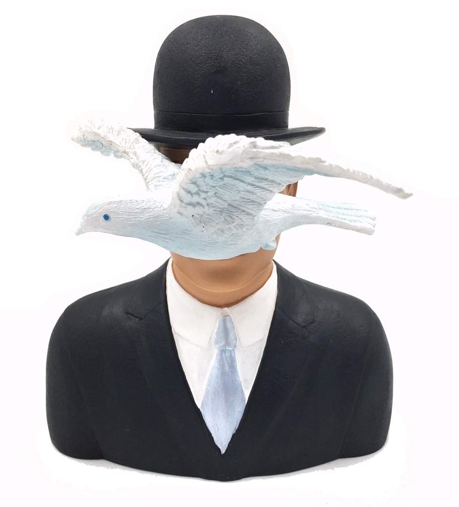 d74e82bffdc956 Amazon.com: Magritte - Parastone Sculpture - Man with Hat and Dove (1964) -  Resin with Hand Painted Details - 6